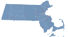 map of soccer clubs in mass