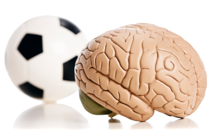soccer ball with brain